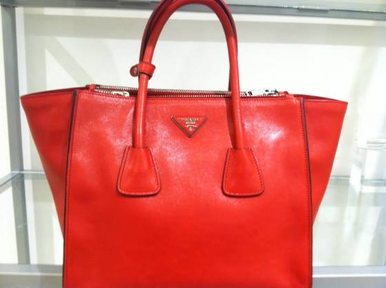 My bag of the season is...PRADA GLACE CALF SKIN TOTE...